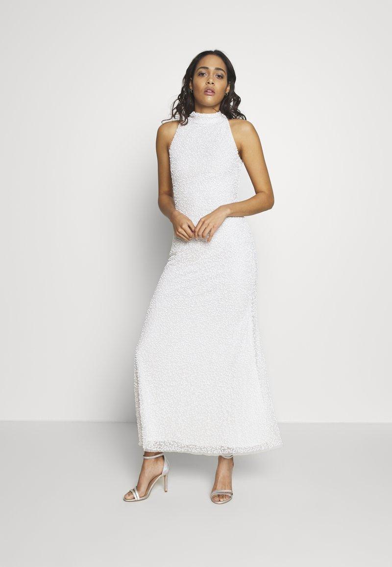 Lace & Beads - NAUTICA MAXI - Abito da sera - white