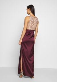Lace & Beads - SIENNA MAXI - Occasion wear - burgundy/gold - 2