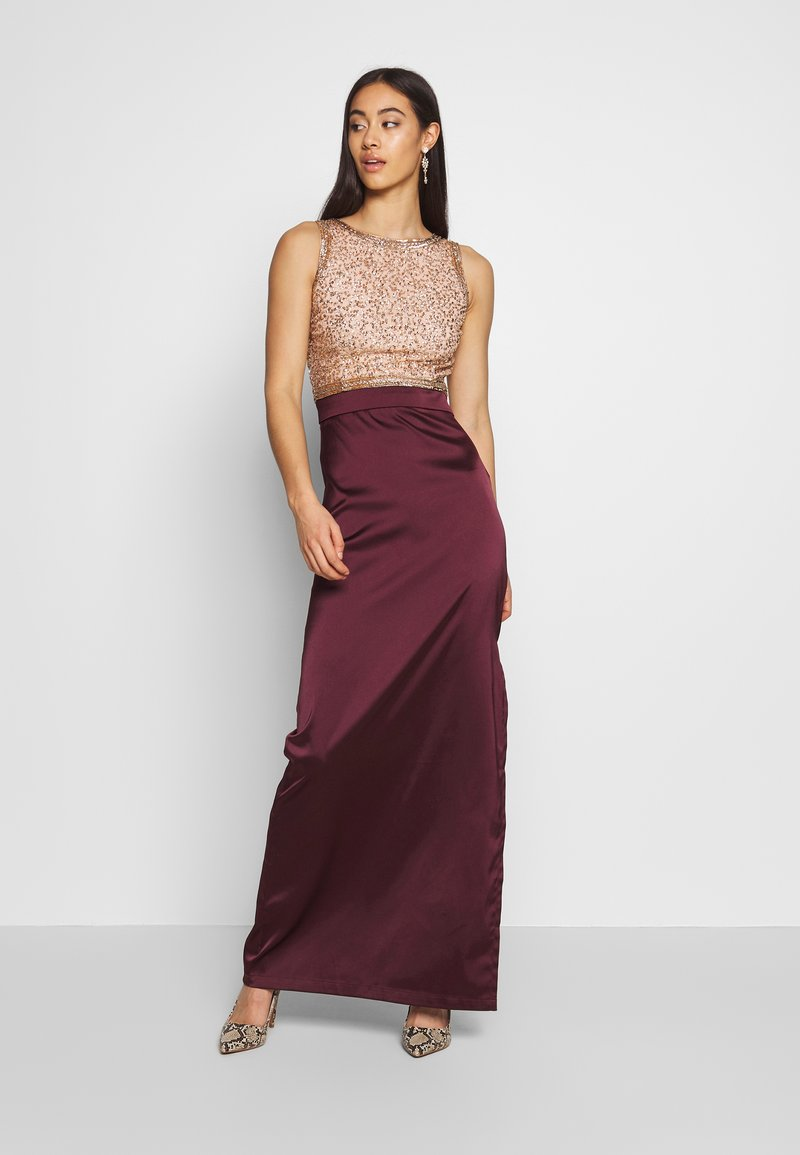 Lace & Beads - SIENNA MAXI - Occasion wear - burgundy/gold