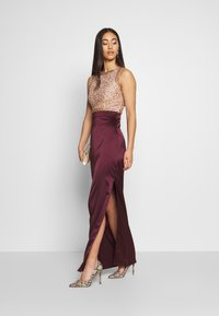 Lace & Beads - SIENNA MAXI - Occasion wear - burgundy/gold - 1