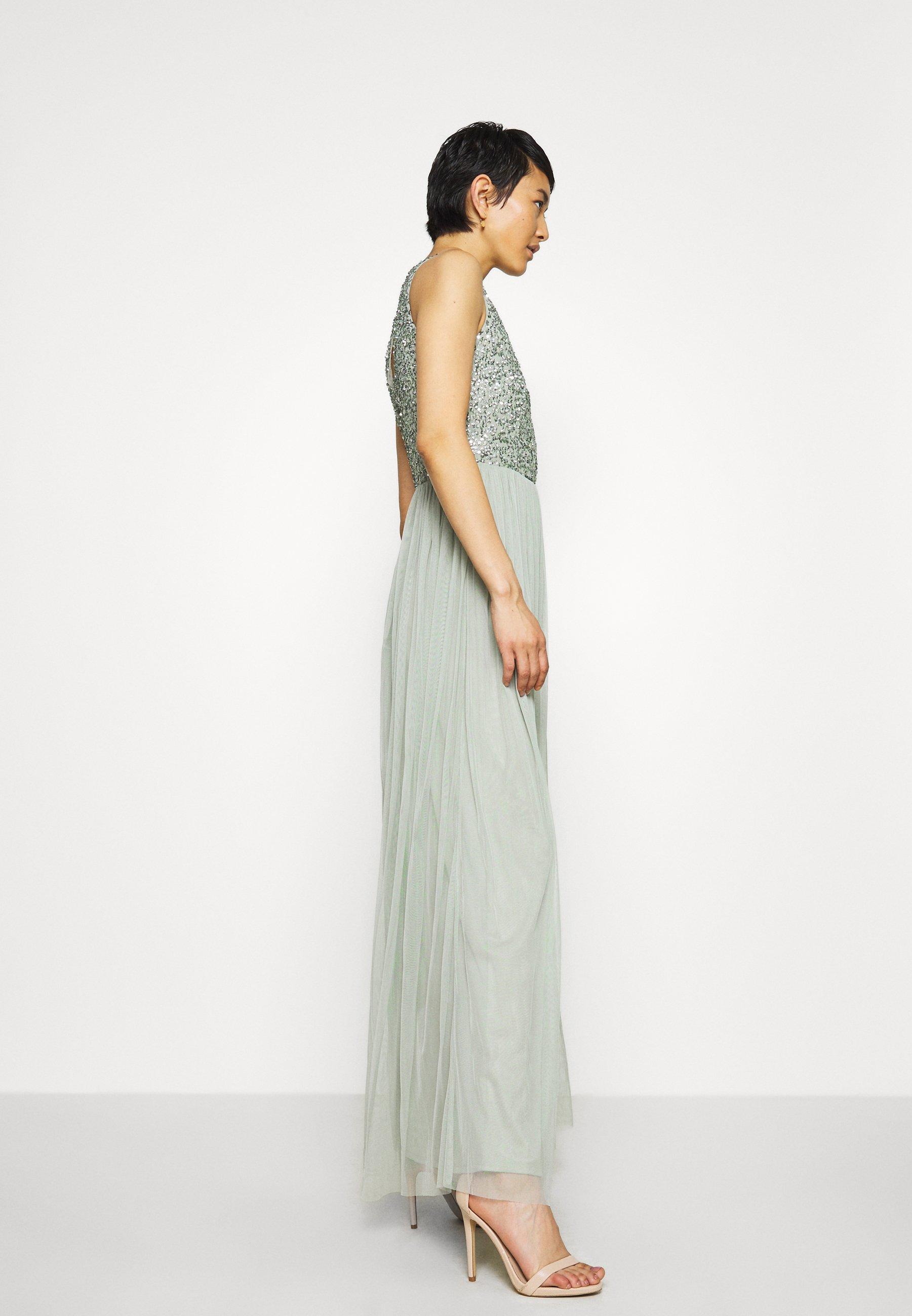 Lace & Beads Beatrice Maxi - Galajurk Sage