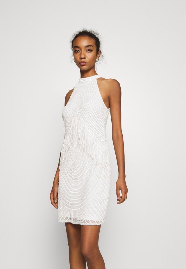 PAISLEY DRESS - Cocktailjurk - white