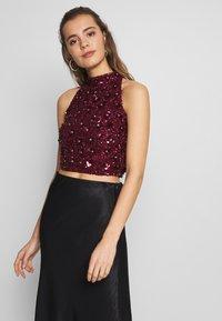 Lace & Beads - GUI - Blůza - burgundy - 0