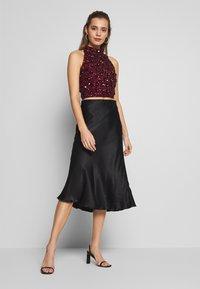 Lace & Beads - GUI - Blůza - burgundy - 1