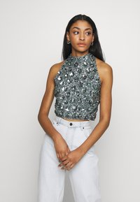 Lace & Beads - GUI - Blouse - teal - 0