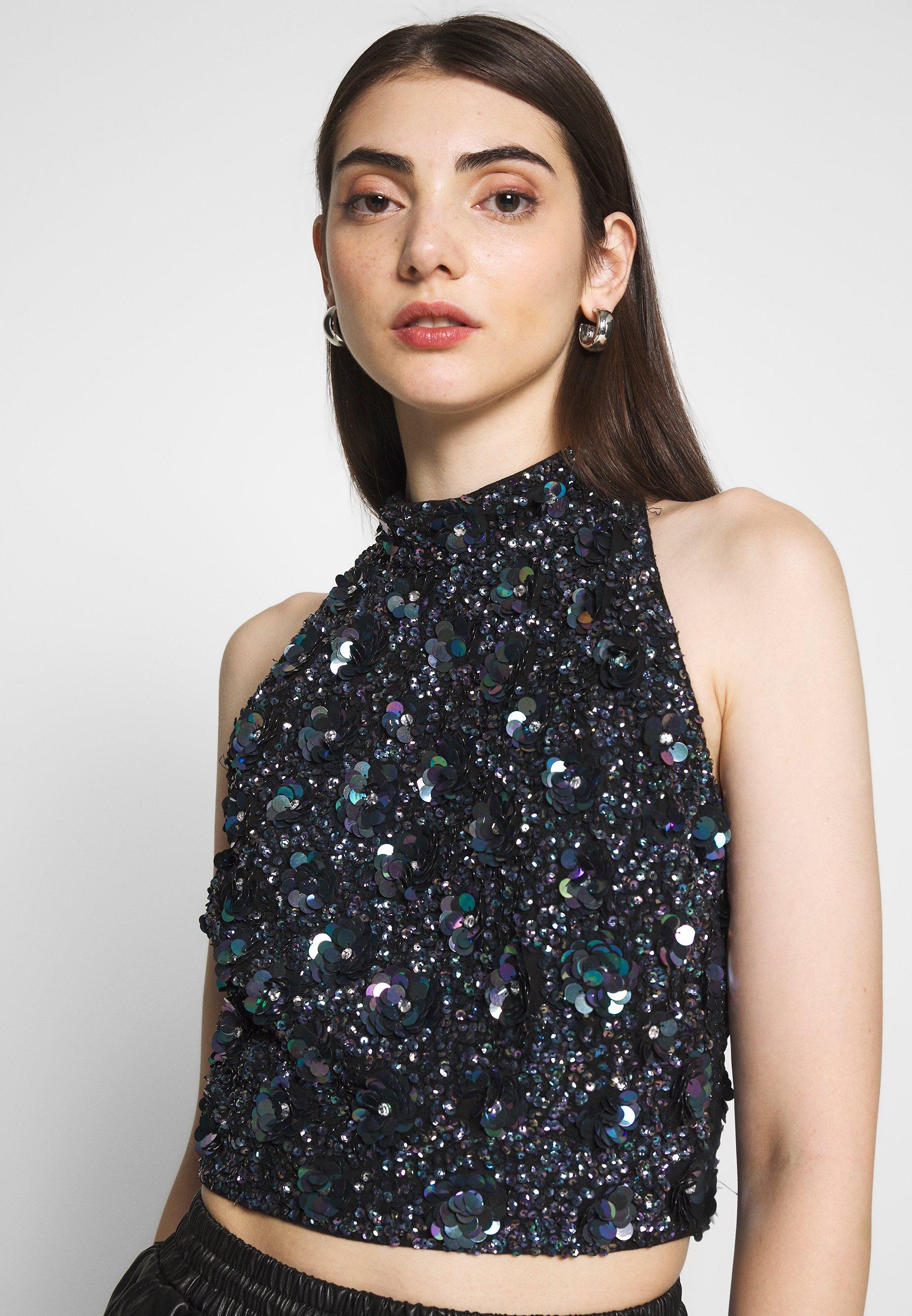 Lace & Beads GUI - Blouse - black NciA4