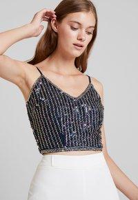 Lace & Beads - SANDY - Topper - dark blue - 3