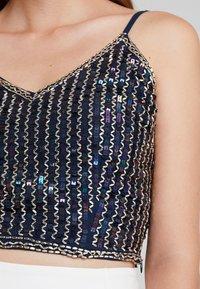 Lace & Beads - SANDY - Topper - dark blue - 5