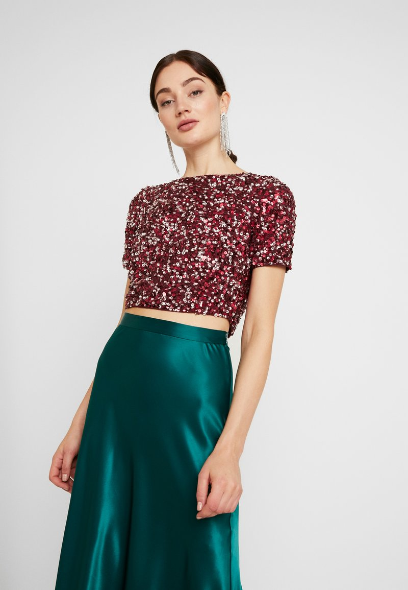 Lace & Beads - LETTY - Camicetta - burgundy