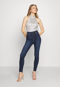 Lace & Beads - NADIA - Top - silver - 1