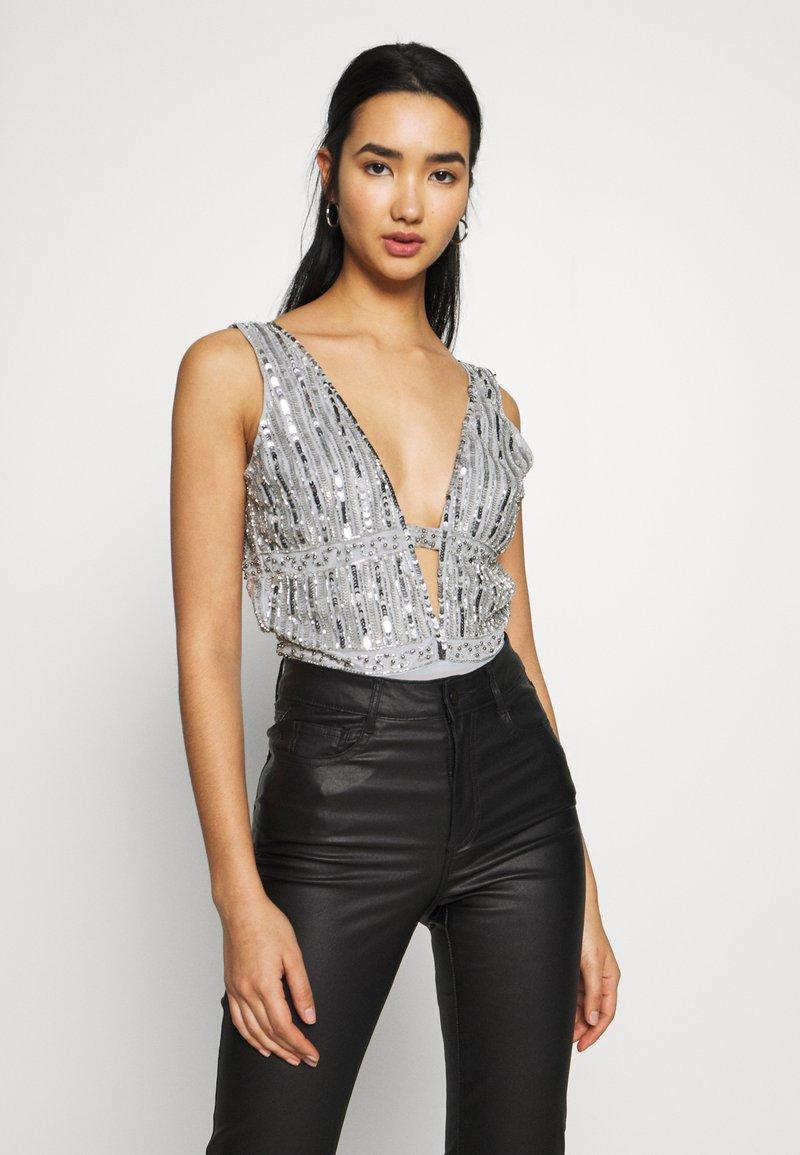 Lace & Beads - MYLA - Bluser - light grey