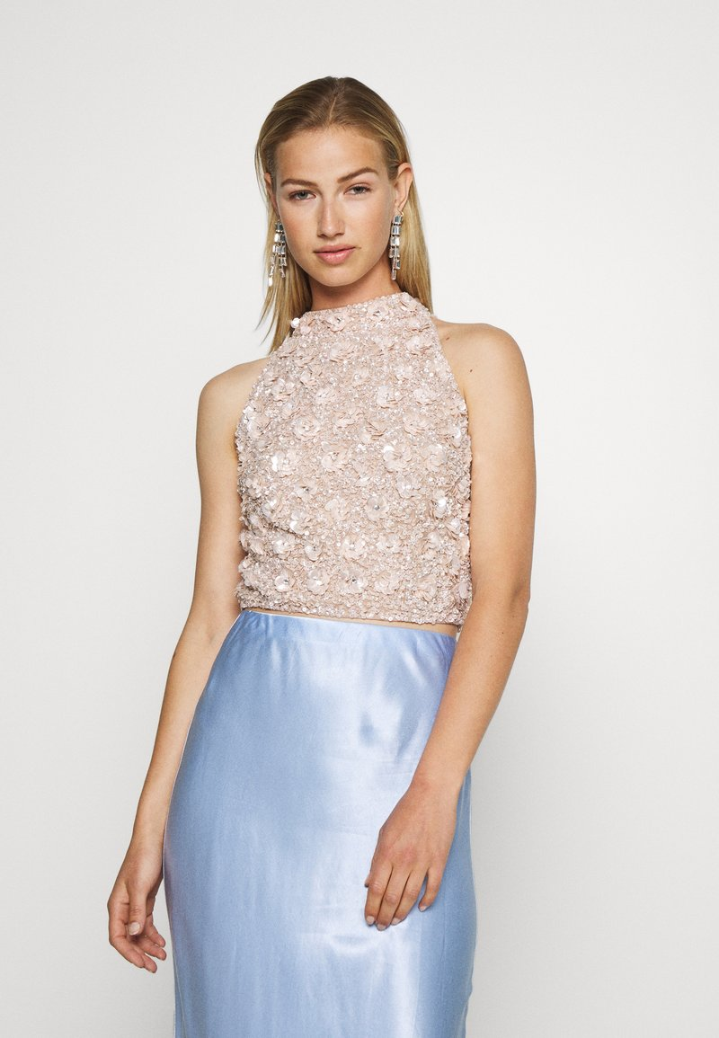 Lace & Beads - GUI - Bluse - nude