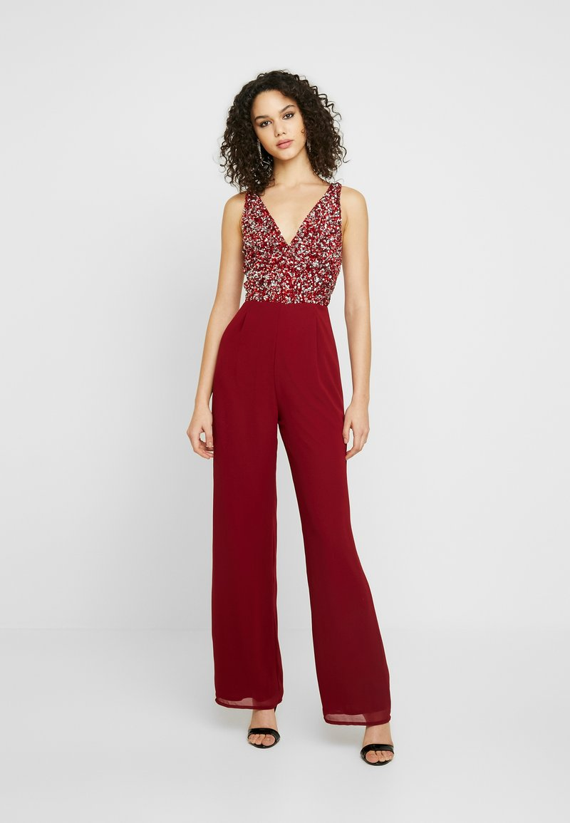 Lace & Beads - PICASSO - Tuta jumpsuit - red