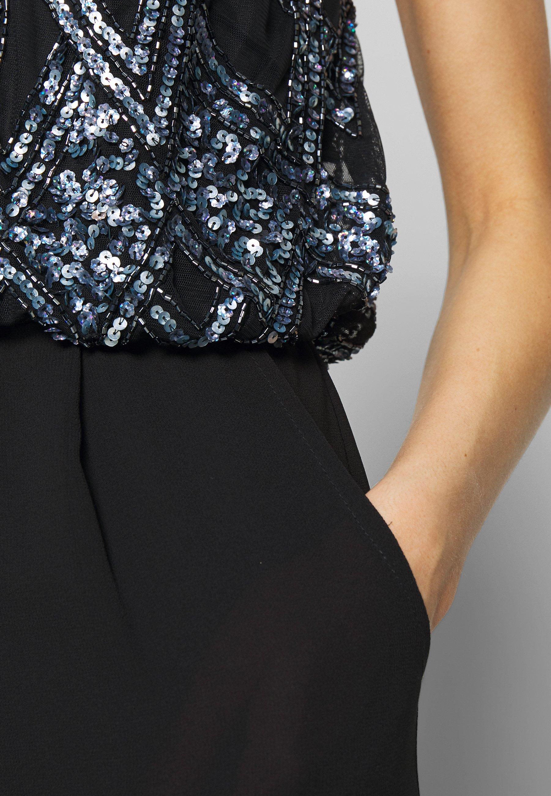 Lace & Beads Amie Jumpsuit - Tuta Black YMdZeJU