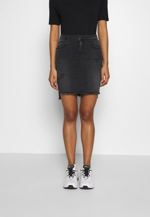 MIRAH - Denim skirt - black denim