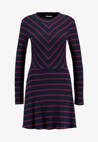 LTB - RIJOWI - Pletené šaty - navy/red - 4