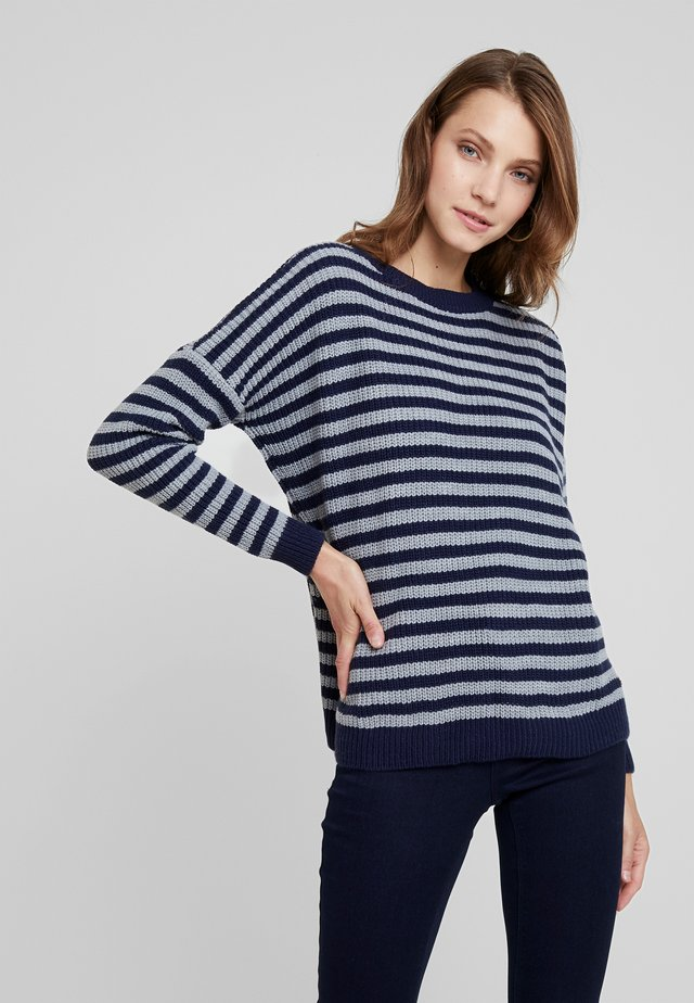 PINADA - Jumper - navy/grey