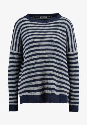 PINADA - Stickad tröja - navy/grey