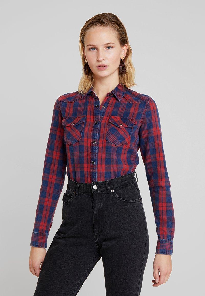 LTB - LONAYA - Button-down blouse - ruby