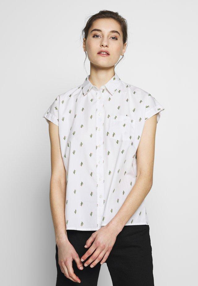 LAZOZE - Button-down blouse - white