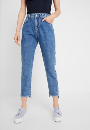 HENNA - Jean boyfriend - perforated wash