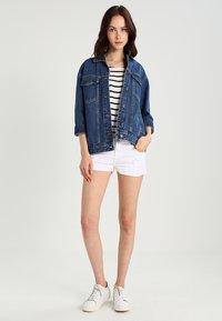 LTB - JUDIE - Jeans Short / cowboy shorts - white daisy wash - 1