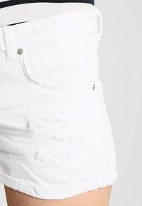 LTB - JUDIE - Jeansshorts - white daisy wash - 3