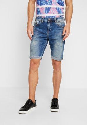 LANCE - Jeans Shorts - dark-blue denim