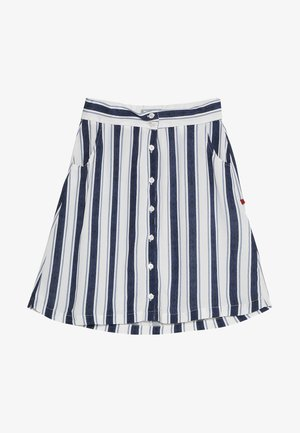 NIFAGO - A-line skirt - white navy
