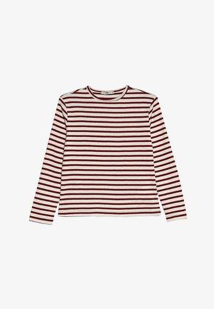 FORIWA - Top sdlouhým rukávem - white/red