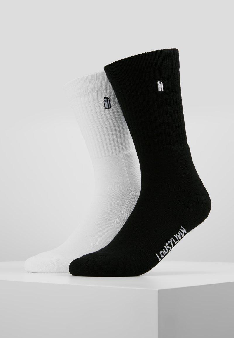 Lousy Livin Underwear - STREET COURT 2 PACK - Strømper - black/white