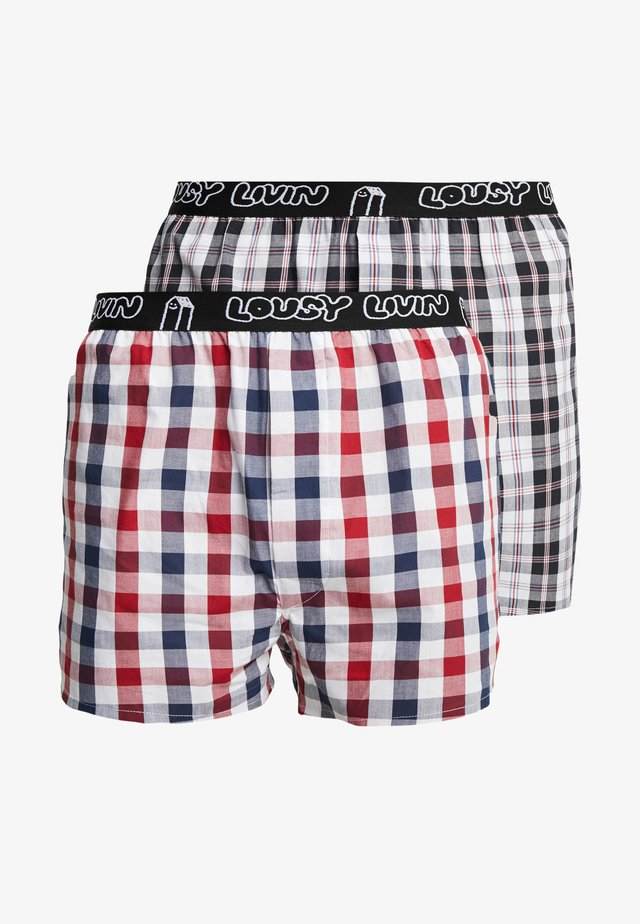 LOUSY BRIEFS 2 PACK - Boxershorts - foggy red