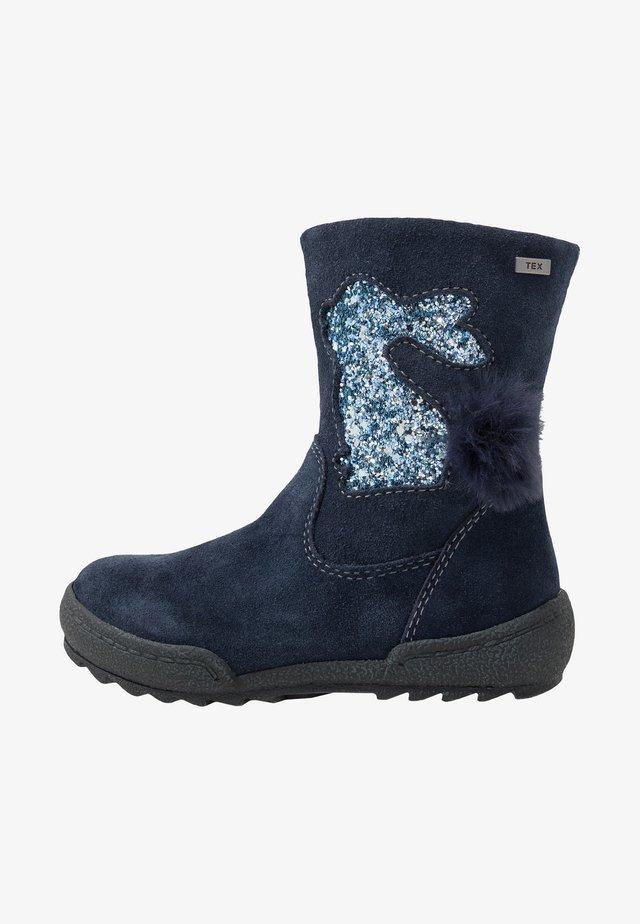 LOTTA-TEX - Vysoká obuv - navy