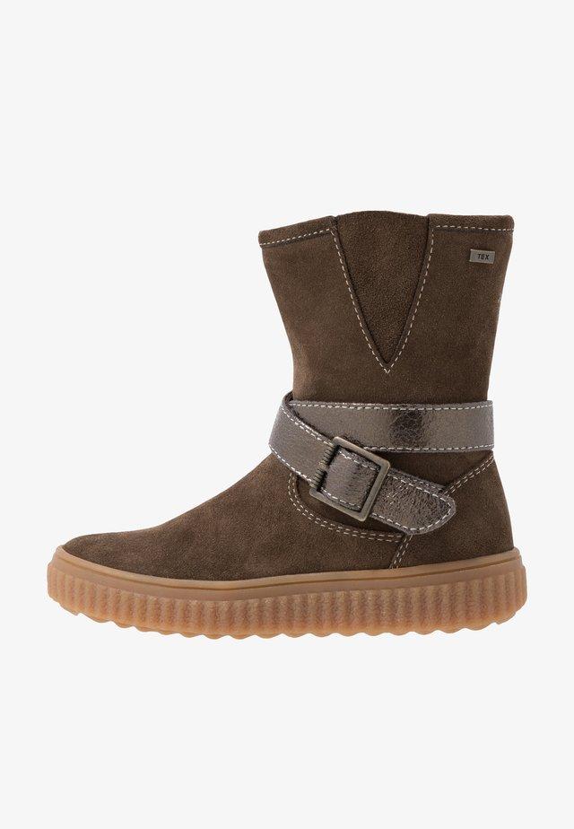 NELLY-TEX - Vysoká obuv - brown