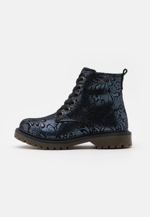 XERA-TEX - Lace-up ankle boots - navy