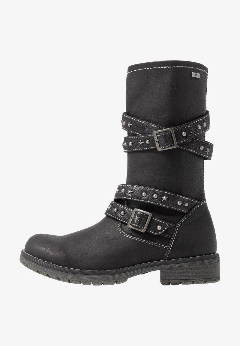 Lurchi - LARU-TEX - Kowbojki i obuwie motocyklowe - black