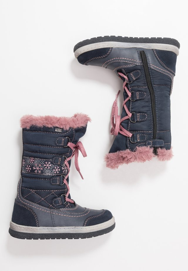 ALPY-TEX - Snowboot/Winterstiefel - navy/rose