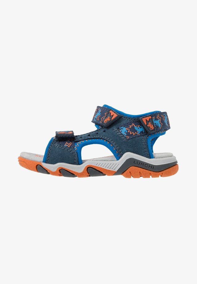 BRIAN - Walking sandals - jeans/orange