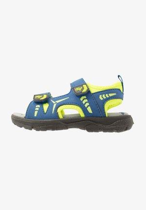 KLAUS - Sandales de randonnée - cobalt/neon yellow