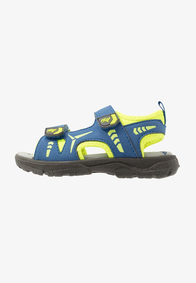 KLAUS - Chodecké sandály - cobalt/neon yellow