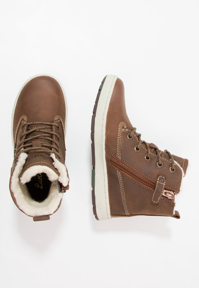 DOUG-TEX - Bottines à lacets - tan tabacco