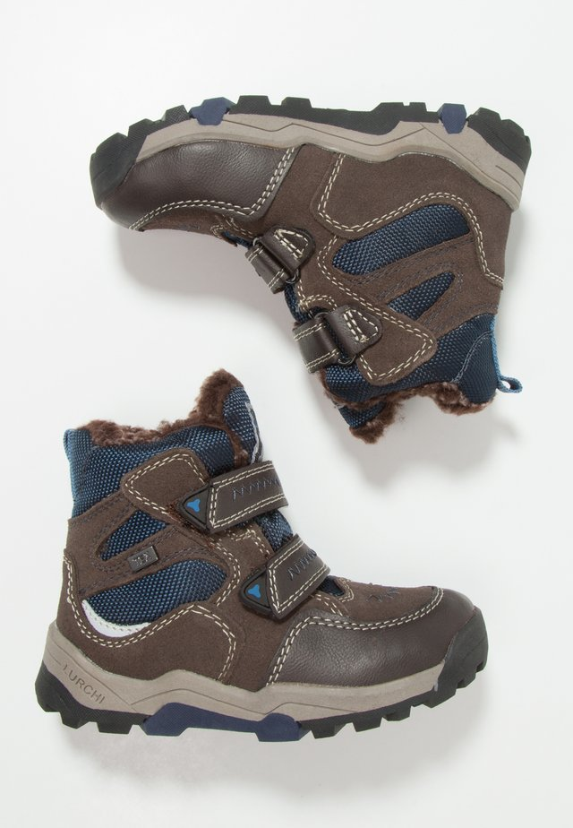 TIMO-TEX - Snowboots  - brown/navy