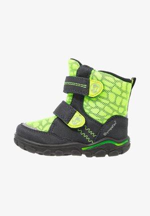 KEKO SYMPATEX  - Winter boots - atlantic/neon yellow