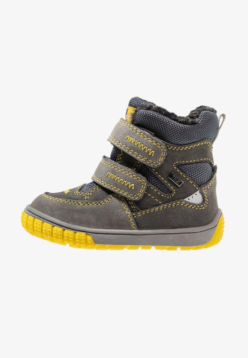 Lurchi - JAUFEN TEX - Botas para la nieve - grey/yellow