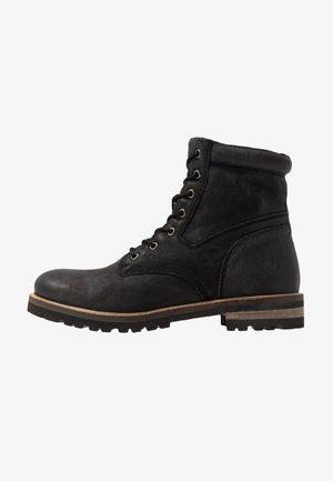 KYTON - Šněrovací kotníkové boty - black