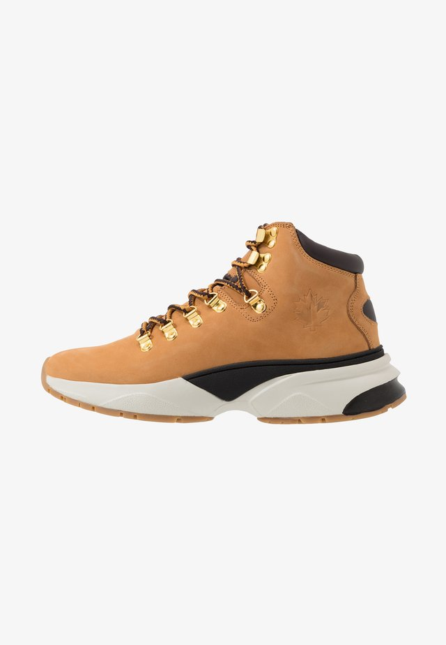HYPE - Sneaker high - yellow/dark brown