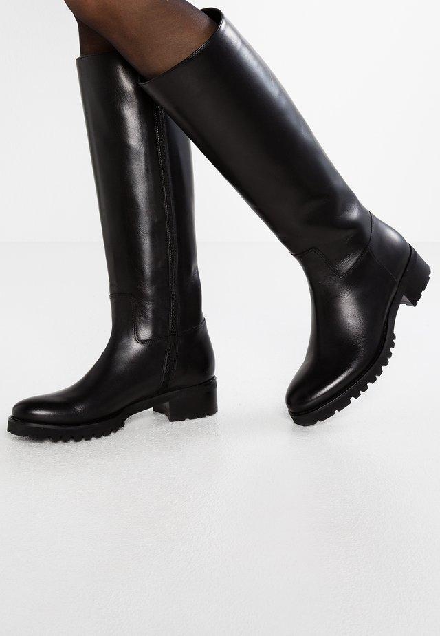 BERTA - Støvler - natur nero