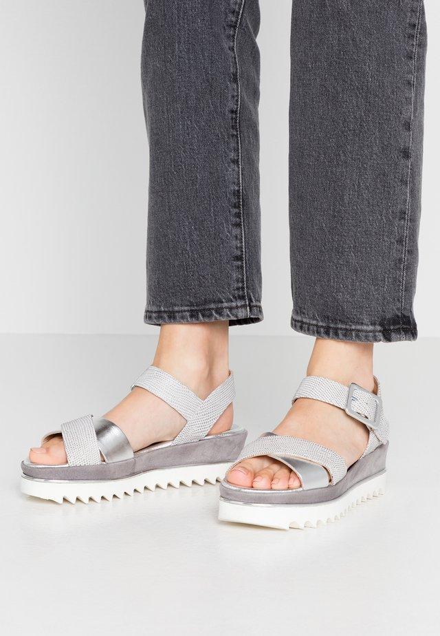 TRESPE - Platform sandals - luxor argento