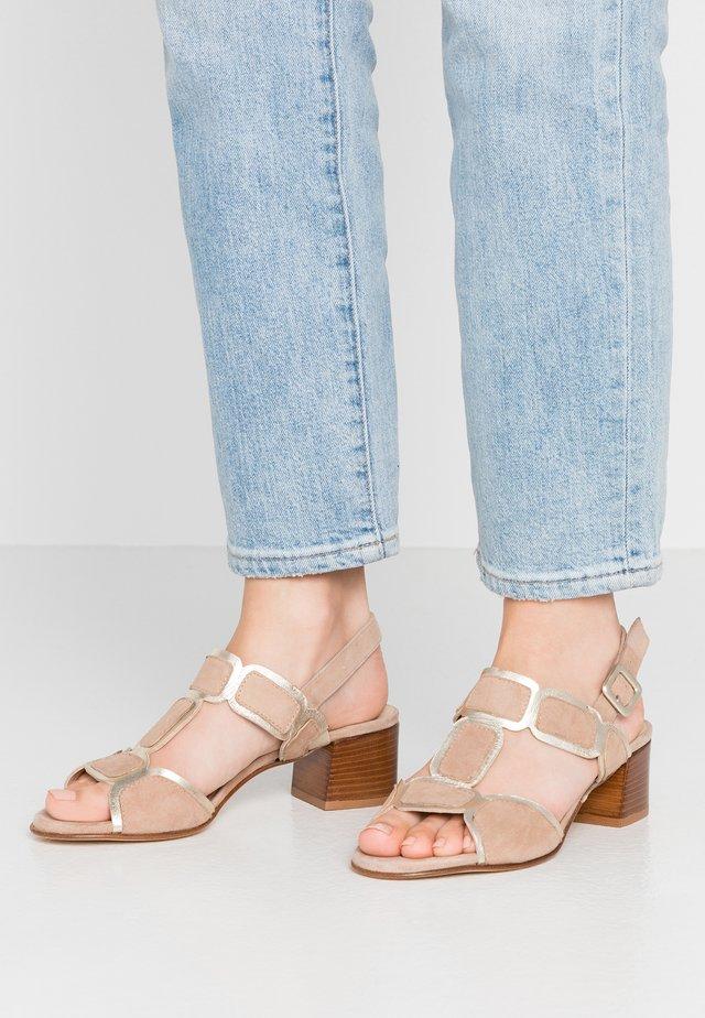 TATZCUO - Sandals - platino/new bisquit