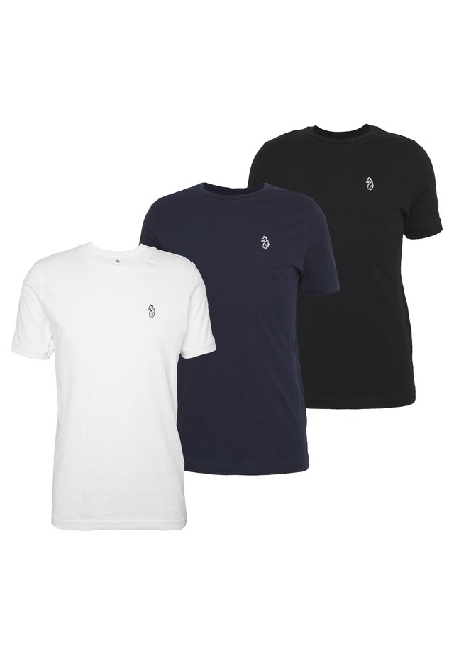 JOHNNYS 3 PACK - T-shirt - bas - black/white/navy